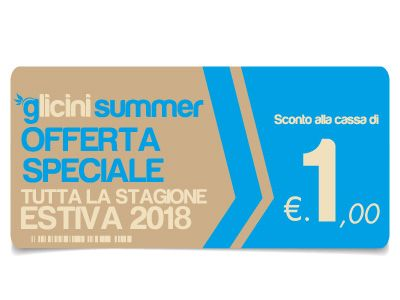 Glicini Summer...a summer full of fun and discounts!